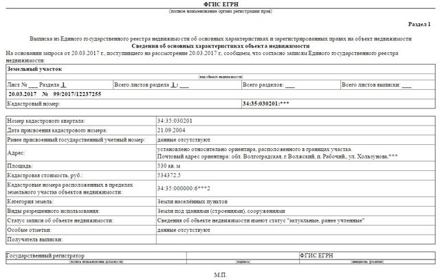 Выписка из ЕГРН на земельный участок и как ее заказать в 2020 году